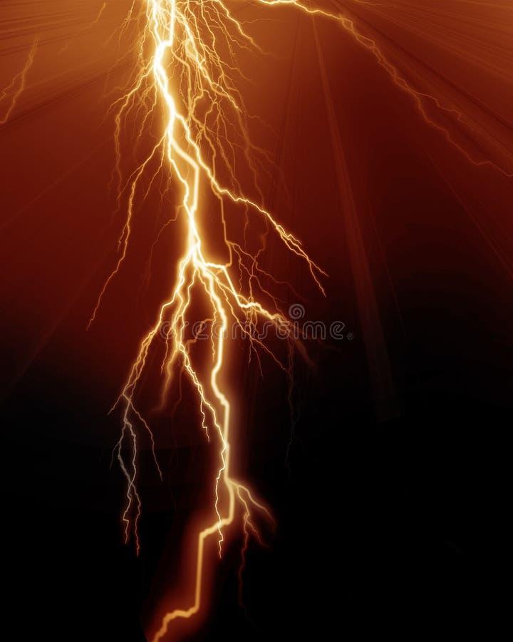 强烈的闪电 向量例证