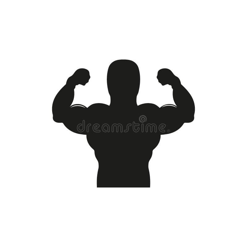 强的力量,肌肉武装象 皇族释放例证