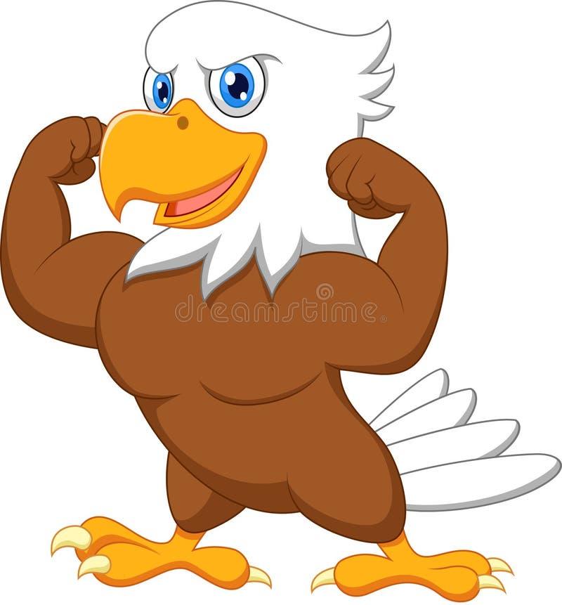 强的老鹰动画片 皇族释放例证