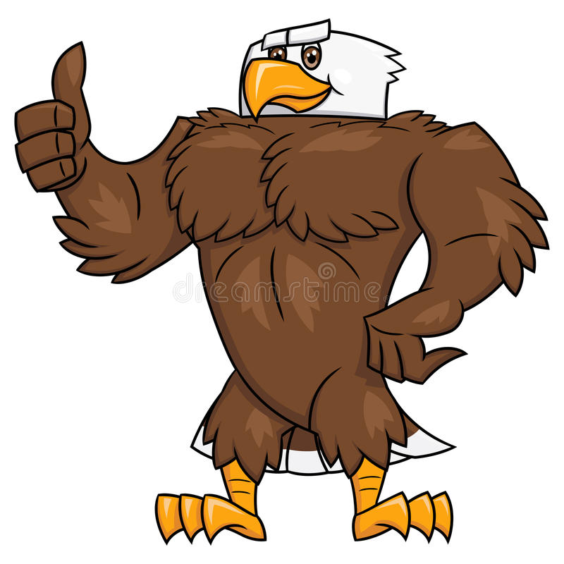强的老鹰赞许姿态2 库存例证