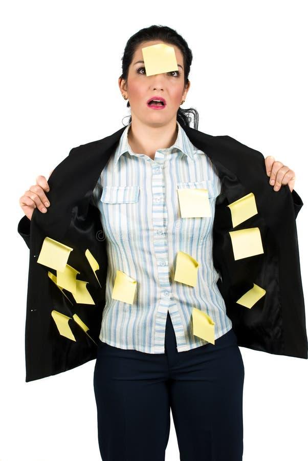 强调的女商人 免版税库存照片