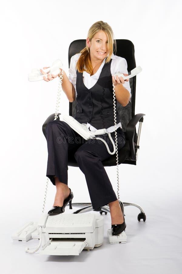 强调的妇女 免版税库存照片
