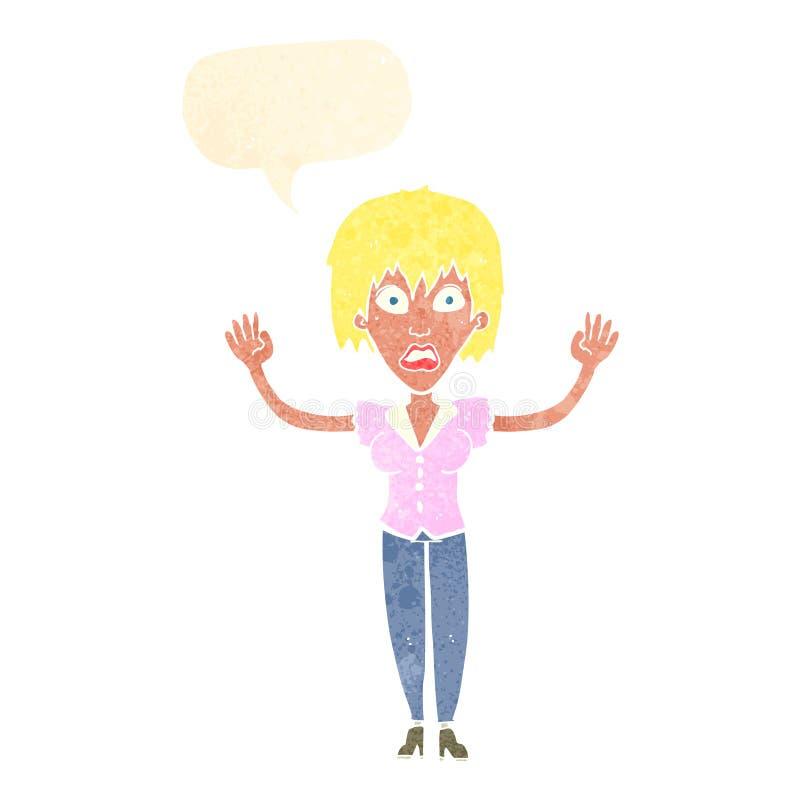 强调说与讲话泡影的动画片妇女 皇族释放例证