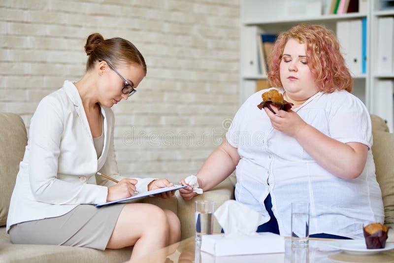 强迫性饮食失调 免版税库存图片