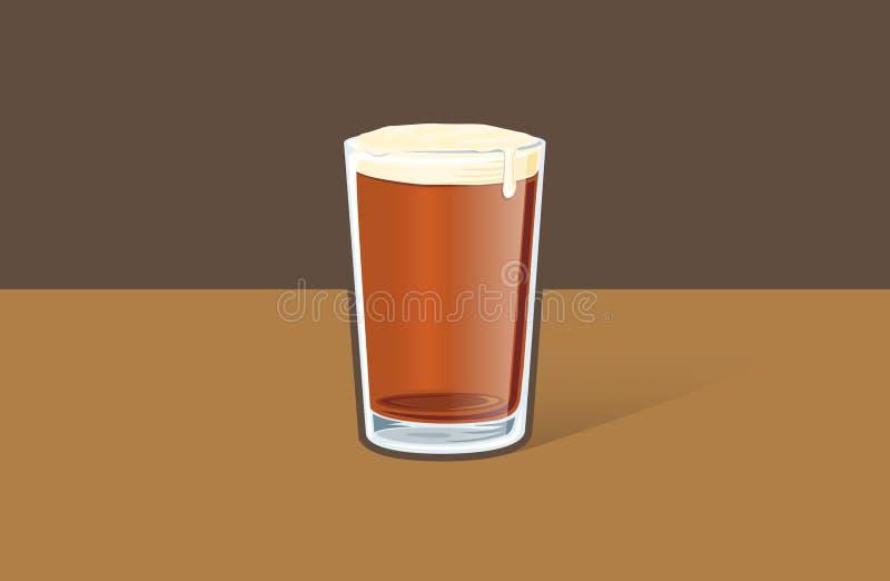 强麦酒玻璃的例证 免版税库存图片