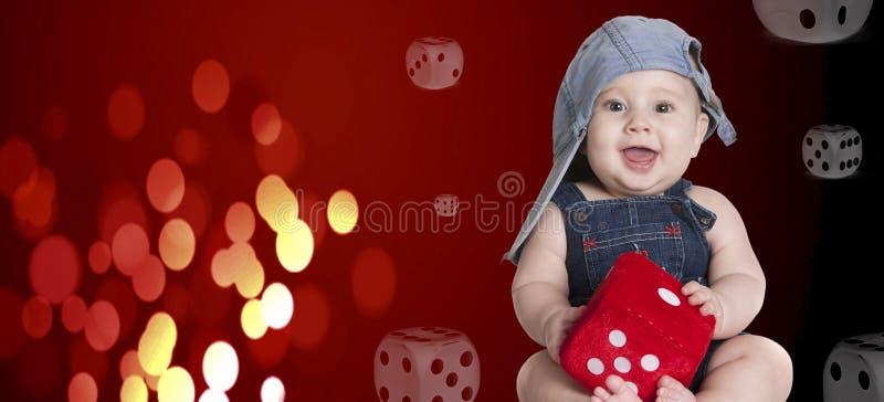 彀子红色婴孩 图库摄影