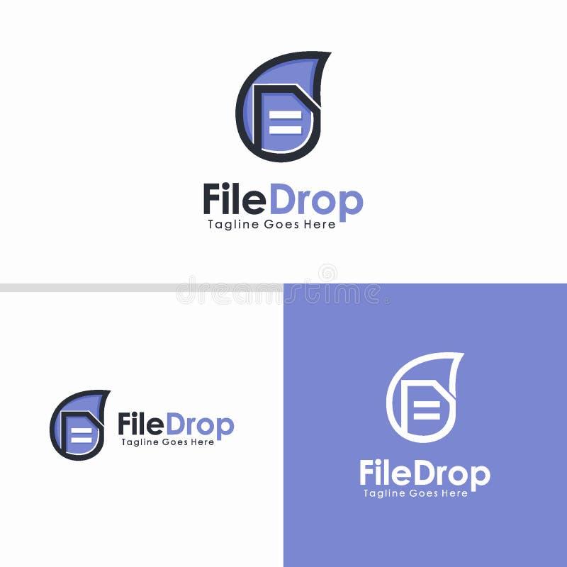 归档下落商标设计观念,创造性的商标传染媒介 库存例证