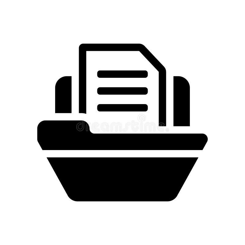 归档图标  库存例证