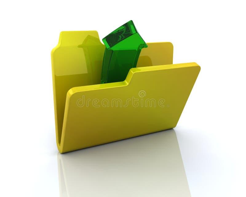 归档开放的图标 库存例证