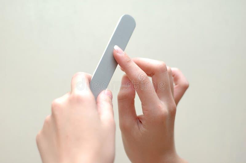 归档手指钉子 免版税库存图片
