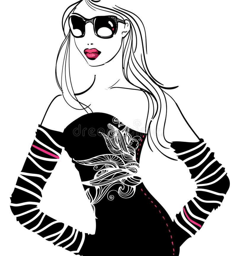 Download 当事人妇女 库存例证. 插画 包括有 表面, 妇女, 有吸引力的, 抽象, 逗人喜爱, beautifuler - 12548013