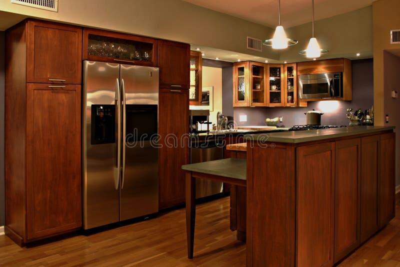 当代厨房 库存图片