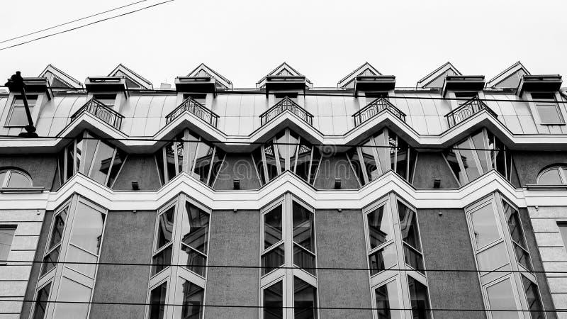当代建筑学在街市 免版税库存图片
