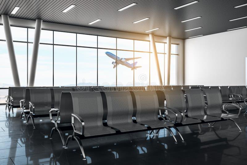 当代机场休息室 向量例证