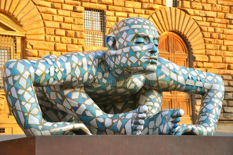 当代艺术显示在佛罗伦萨,意大利 免版税库存图片