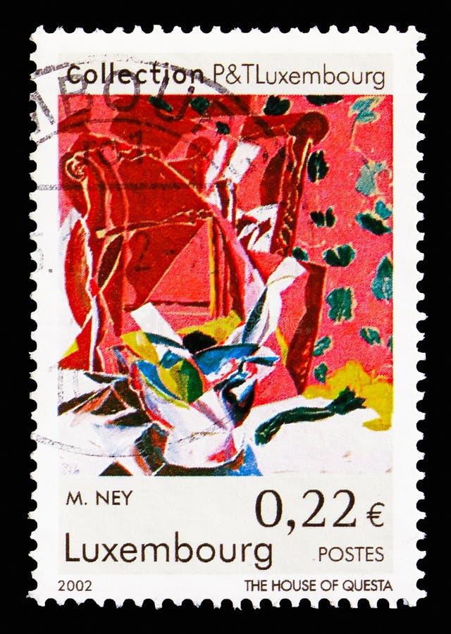 当代艺术,绘画serie,大约2002年 免版税库存照片