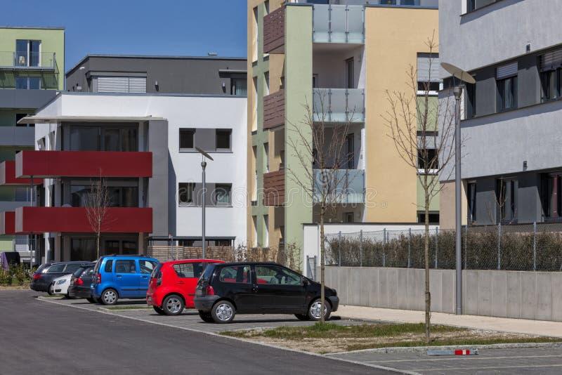 当代豪华公寓,顶楼房屋 免版税库存图片