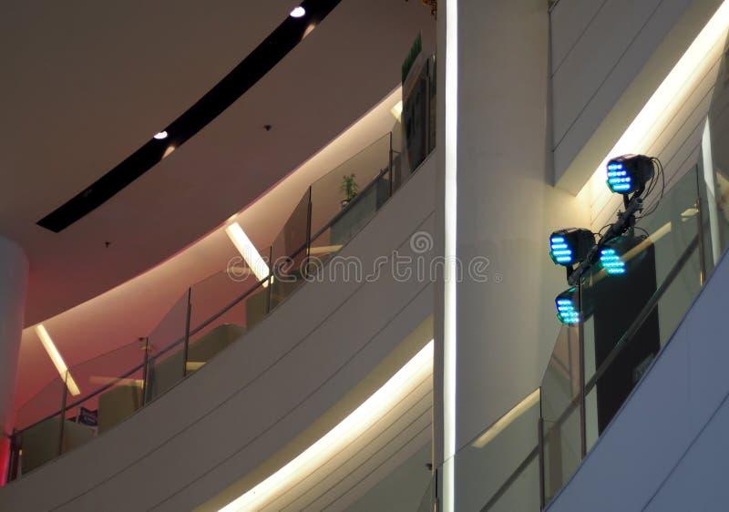 当代LEDs阶段照明设备技术 库存照片