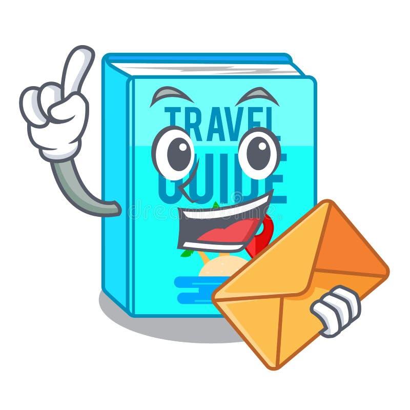 当信封旅行指南被隔绝在动画片 库存例证