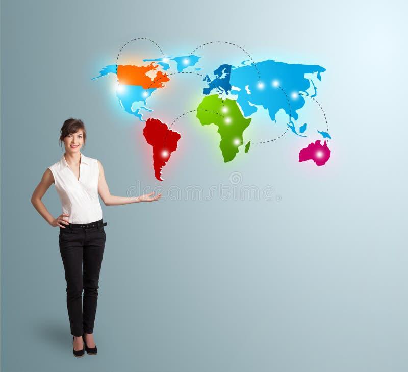 Download 当前五颜六色的世界地图的少妇 库存图片. 图片 包括有 设计, 映射, 现代, 五颜六色, 夫人, 国界的 - 62526653