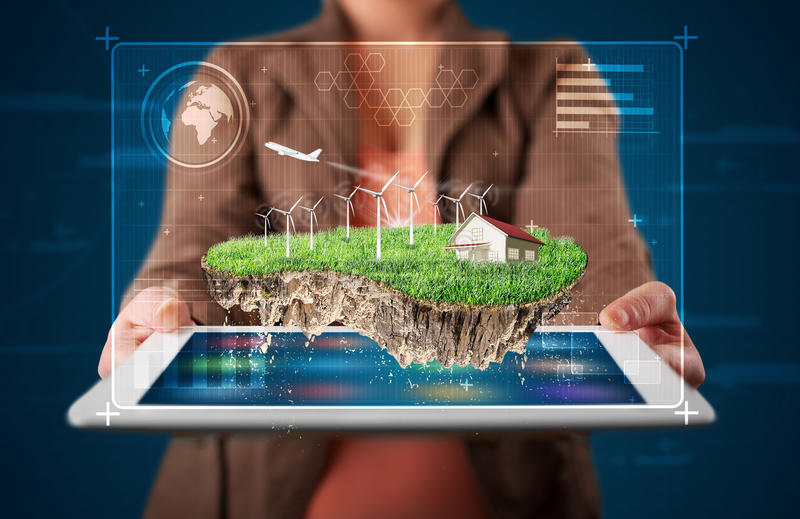Download 当前有房子和windmil的妇女完善的生态土地 库存照片. 图片 包括有 环境, 房子, 能源, 商业, 藏品 - 62526662