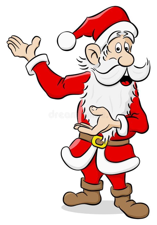 当前某事的圣诞老人 皇族释放例证