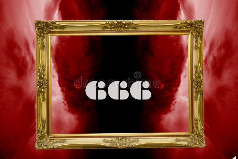 666当反基督者标志 皇族释放例证