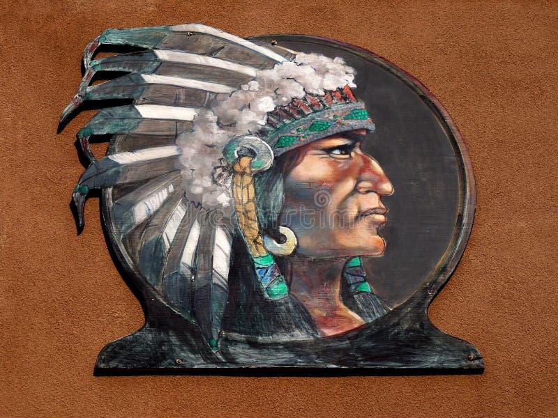 当地美洲印第安人首要头饰,种族的那瓦伙族人 免版税库存照片