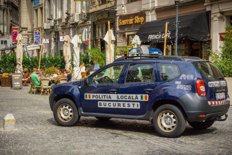当地警察汽车 免版税库存图片