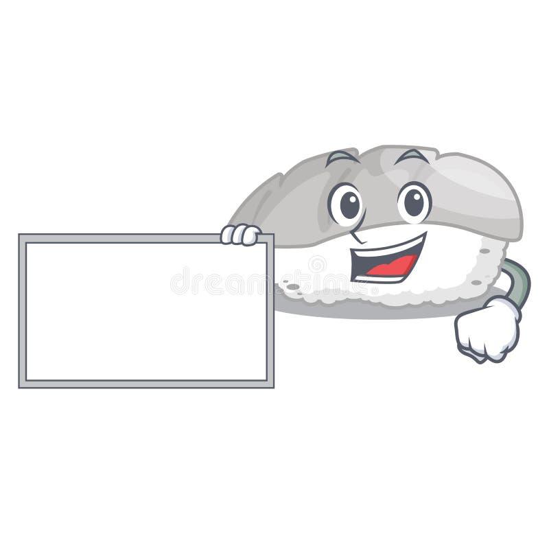 当委员会ika寿司隔绝与动画片 库存例证