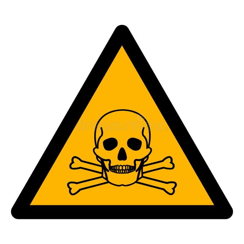 当心氨标志在白色背景,传染媒介例证EPS的标志孤立 10 皇族释放例证