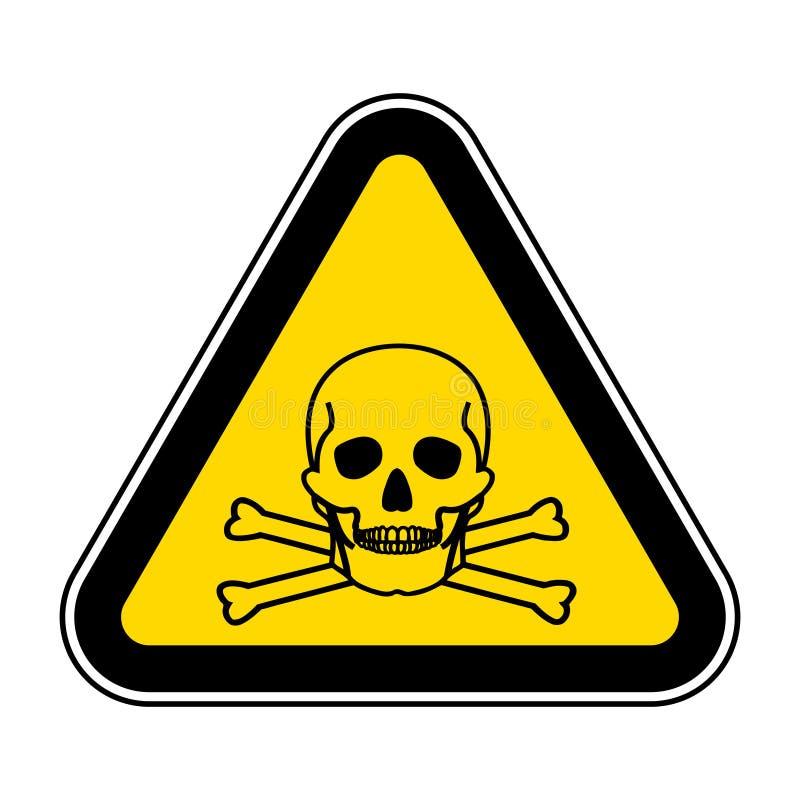当心氨标志在白色背景,传染媒介例证EPS的标志孤立 10 向量例证