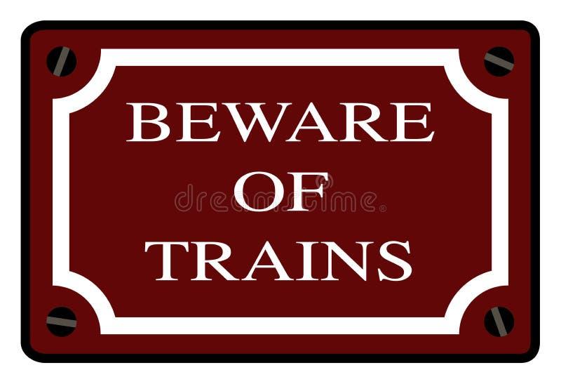 当心火车站标志 向量例证