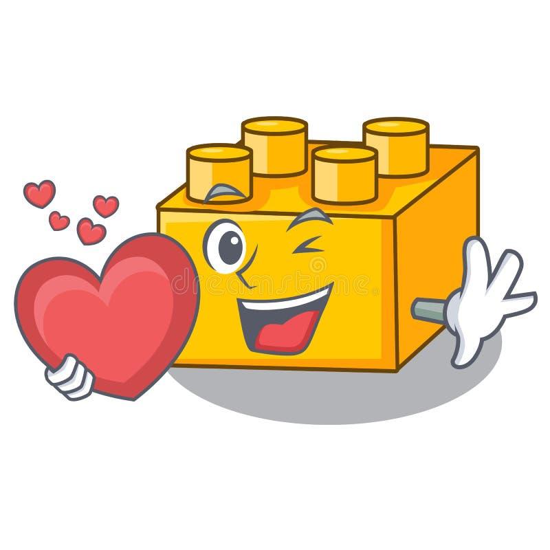 当心脏积木tyos被隔绝在动画片 库存例证