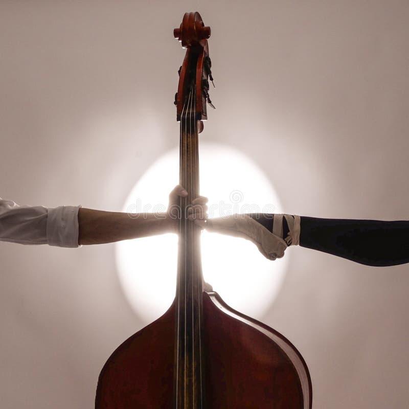 当您不可能听到音乐时,您能看它 免版税库存照片