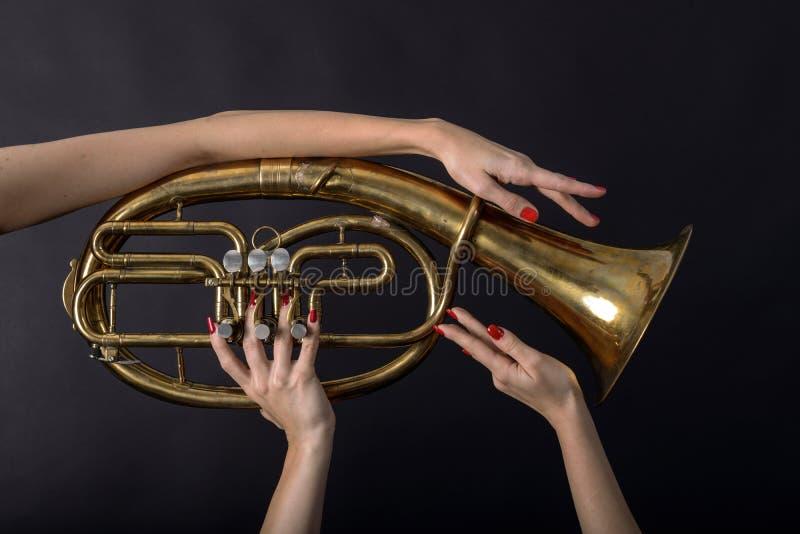 当您不可能听到音乐时,您能看它 库存图片