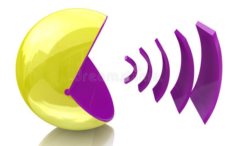声音消息 库存例证