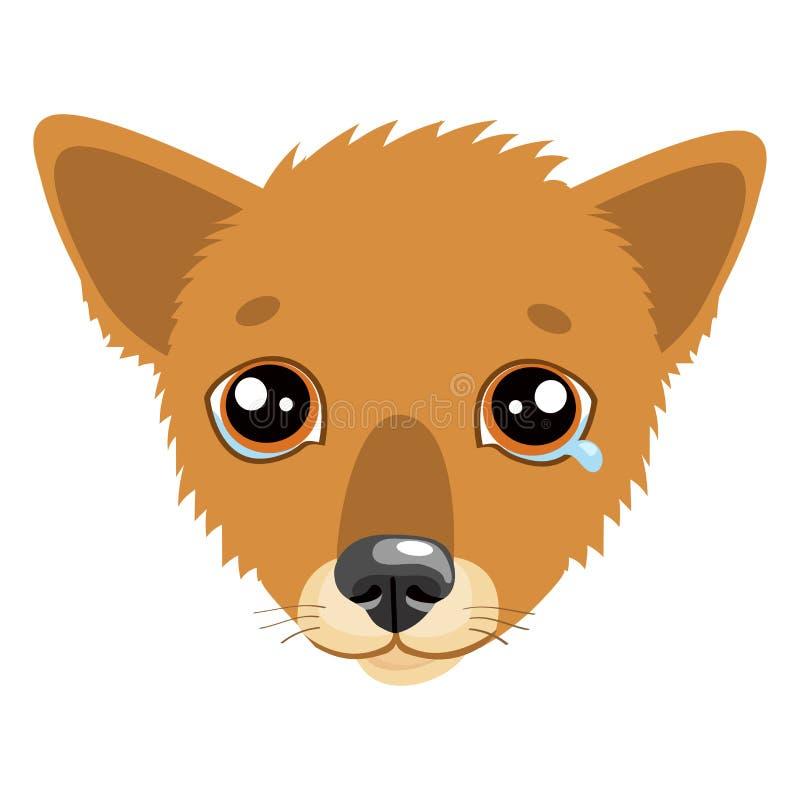 当您被压下 什么是您的狗说法,当做一张哀伤的面孔时 库存例证
