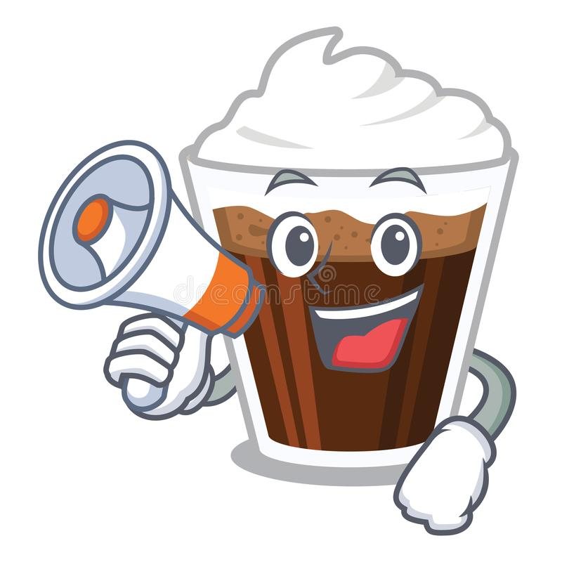 当扩音机爱尔兰coffe隔绝与动画片 库存例证