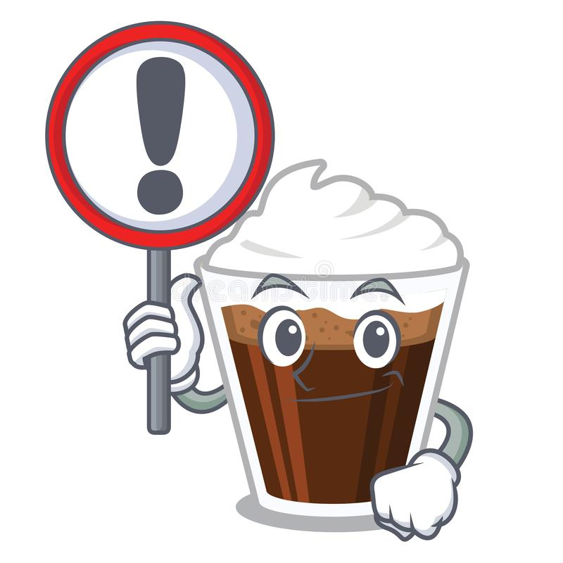 当标志爱尔兰coffe隔绝与动画片 皇族释放例证