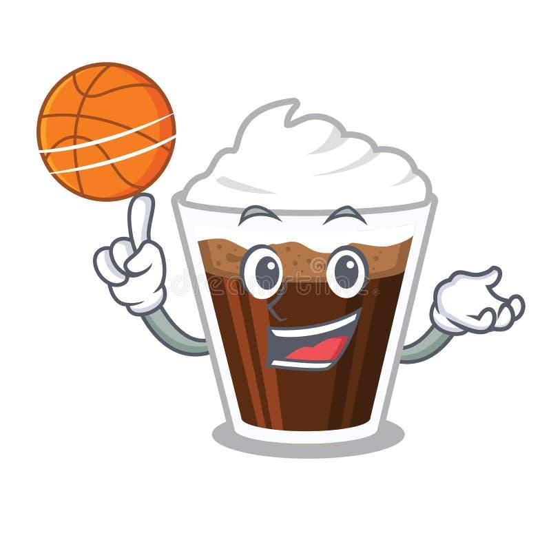 当篮球爱尔兰coffe隔绝与动画片 向量例证