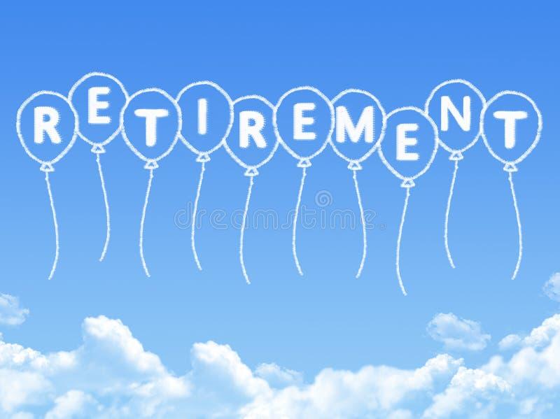 当退休消息被塑造的云彩 向量例证