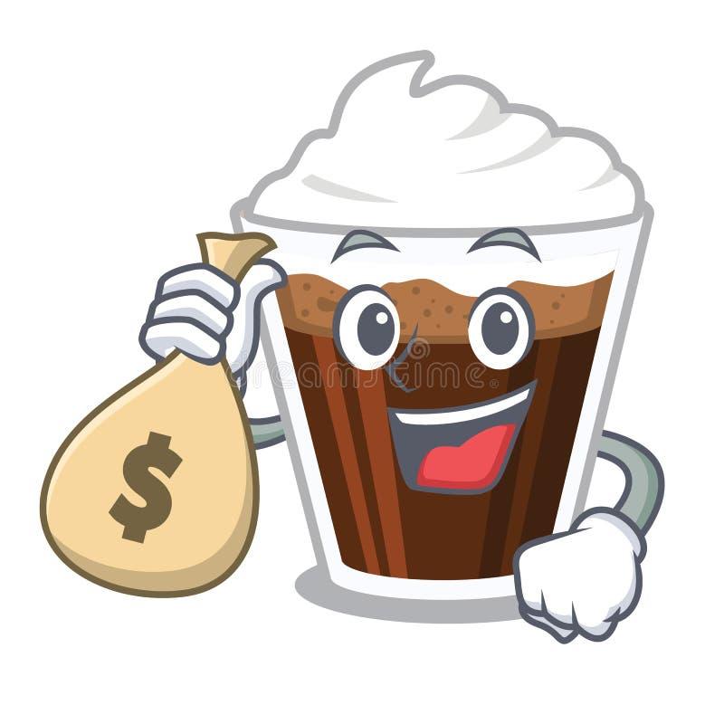 当金钱袋子爱尔兰coffe隔绝与动画片 向量例证
