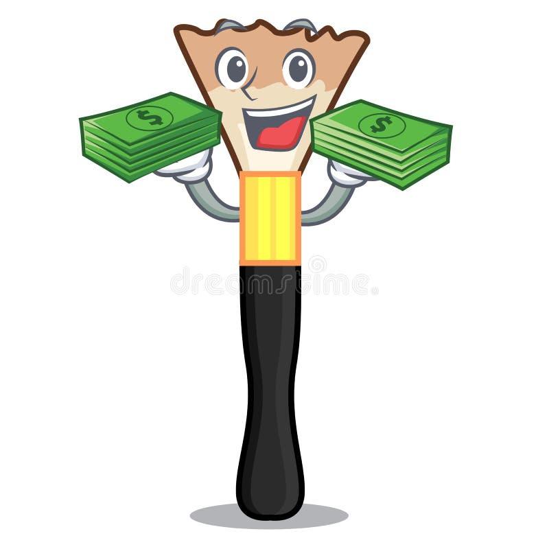 当金钱袋子胭脂隔绝与在动画片 皇族释放例证