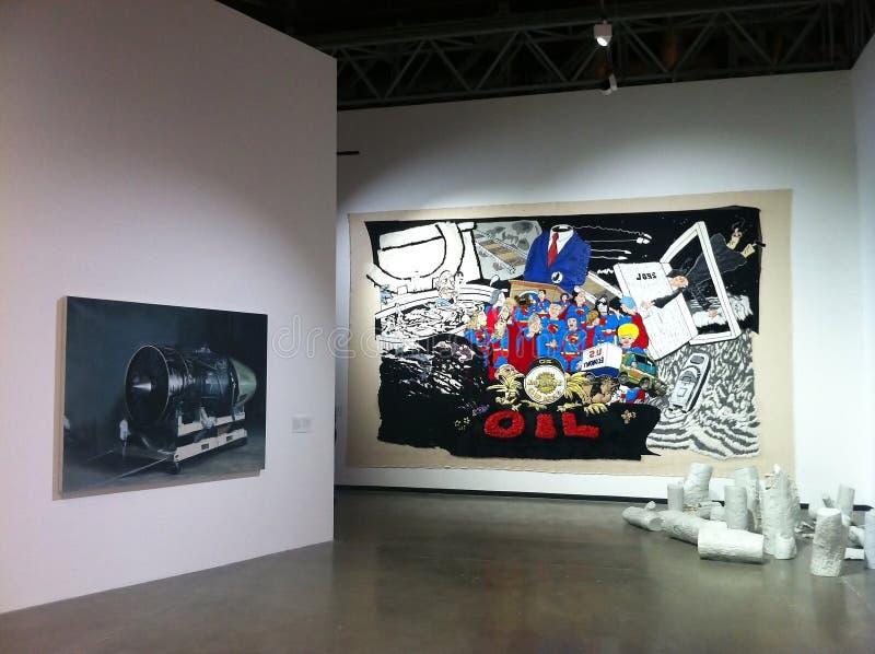 当代中国画展在莫斯科 免版税库存图片