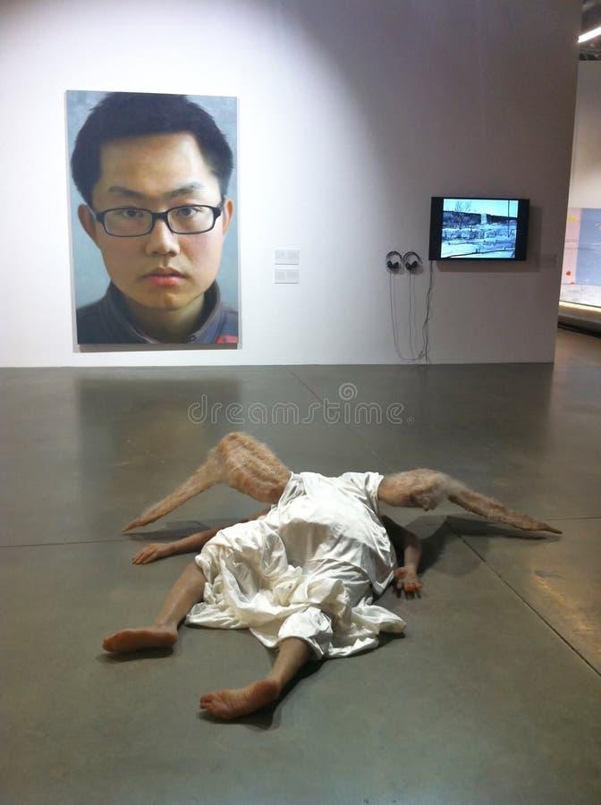 当代中国画展在莫斯科 免版税库存照片