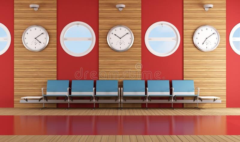 当代候诊室 向量例证