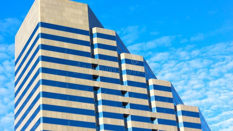 当代建筑学在巴尔的摩,马里兰 免版税图库摄影