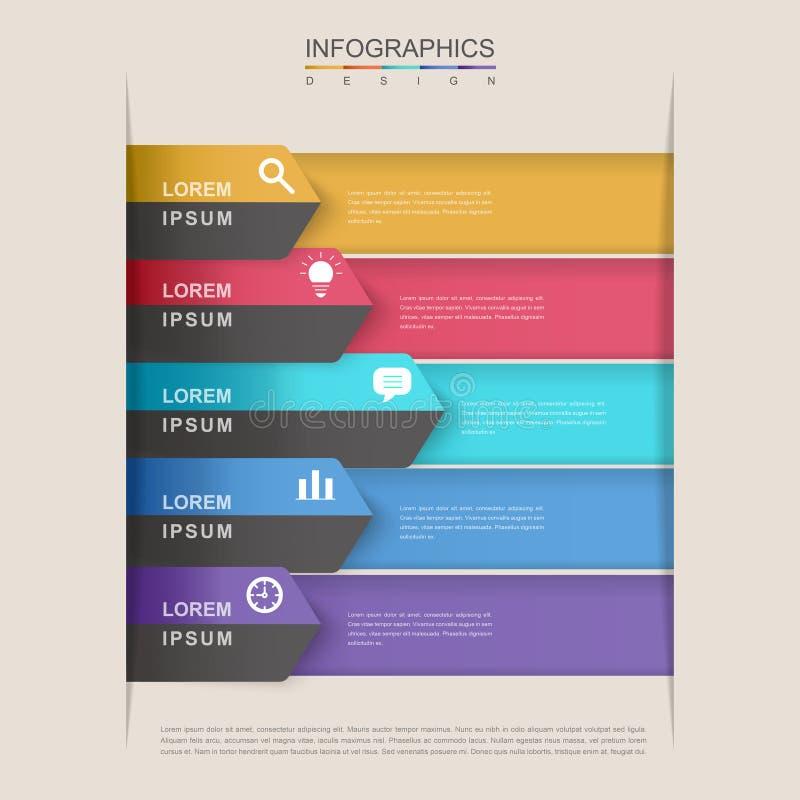 当代infographic设计 向量例证