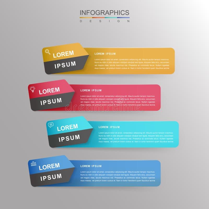 当代infographic设计 库存例证